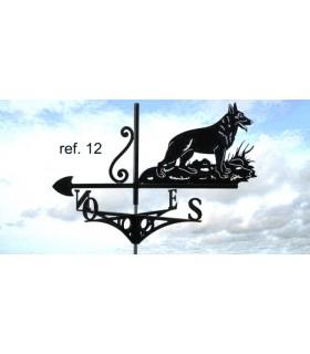 Girouettes de toit artisanales en acier thème Chats et Chiens