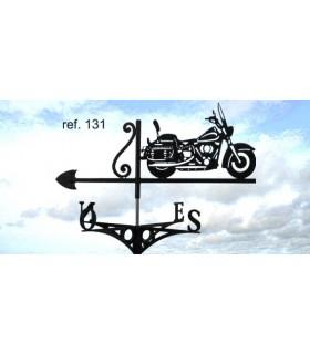 Girouettes de toit ou de jardin artisanales en acier thème Motos et 2 roues