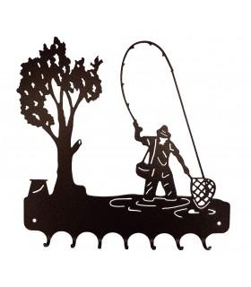 Accroche-clés en métal pour pêcheurs et chasseurs