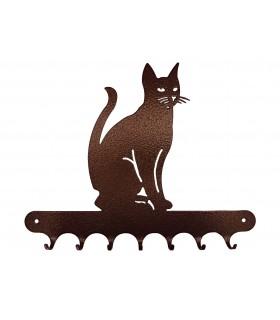 Accroche-clés en métal sur le thème des chats et des chiens