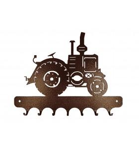 Accroche-clés en métal originaux sur les tracteurs et engins agricoles